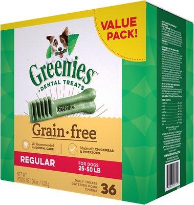 Greenies Grain-Free Regular Dental Dog Treats, 36-count