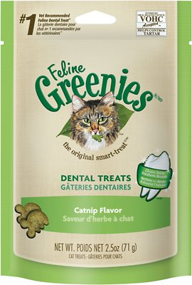 Feline Greenies Dental Treats Catnip Flavor Cat Treats, 2.5-oz bag