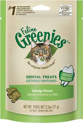 Feline Greenies Dental Treats Catnip Flavor Cat Treats, 2.5-oz bag