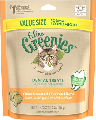 Feline Greenies Dental Treats Oven Roasted Chicken Flavor Cat Treats