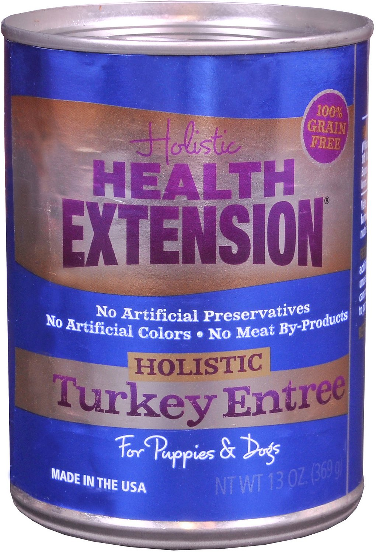 Health Extension Turkey Entree Grain-Free Canned Dog Food, 13.2-oz