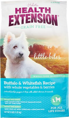 Health Extension Grain-Free Little Bites Buffalo & Whitefish Recipe Dry Dog Food
