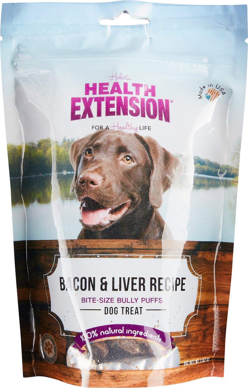 Health Extension Bully Puffs Bacon & Liver Grain-Free Dog Treats, 5-oz bag