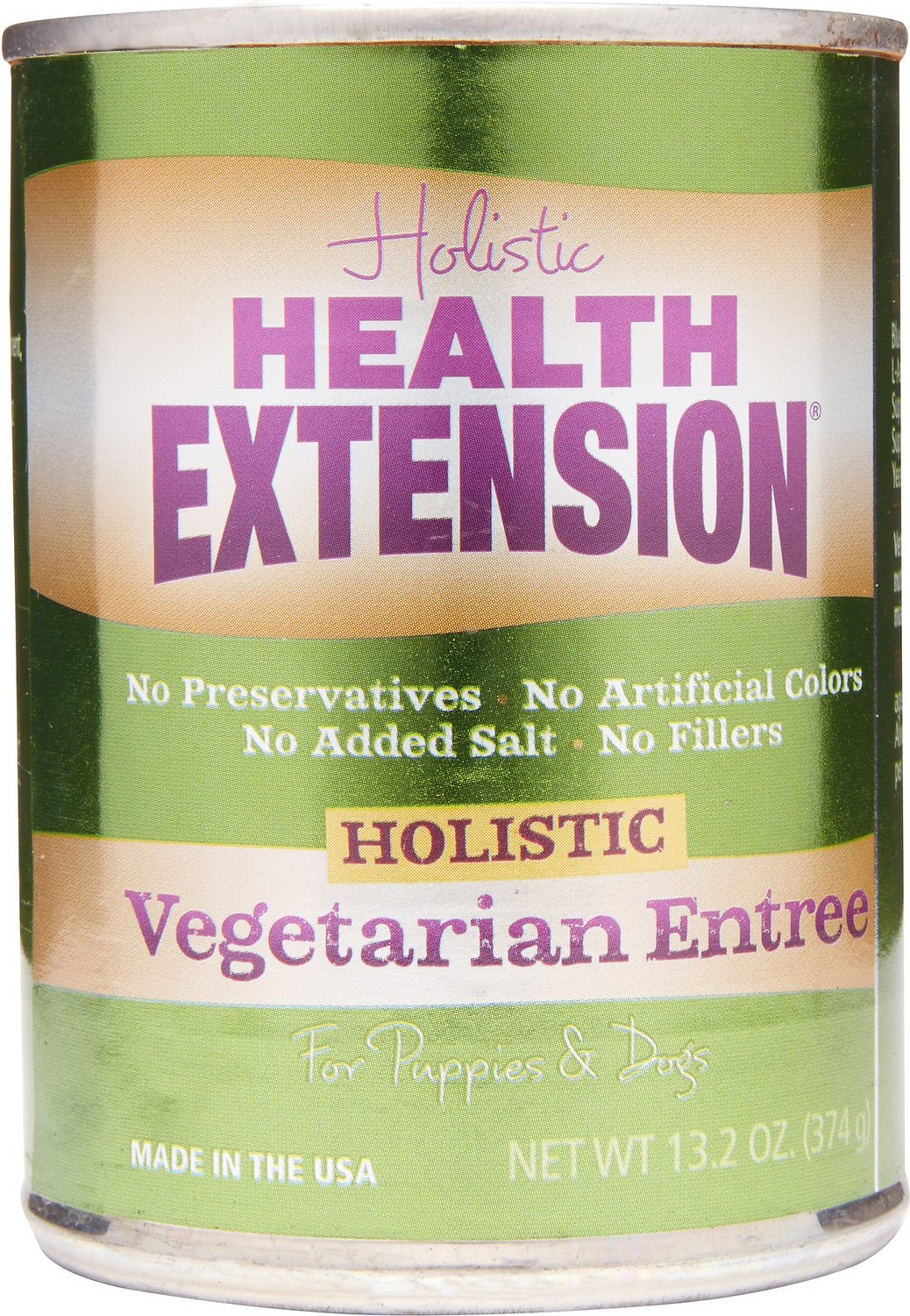 Health Extension Vegetarian Entree Grain-Free Canned Dog Food, 13.2-oz