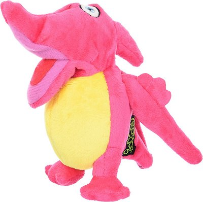 GoDog Dinos Chew Guard Pterodactyl Dog Toy, Pink, Small
