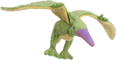 GoDog Dinos Chew Guard Terry Dog Toy, Green, Large