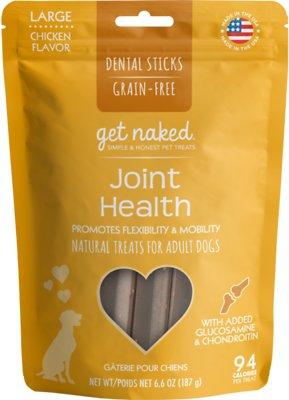 Get Naked Joint Health Dental Chew Sticks Dog Treats