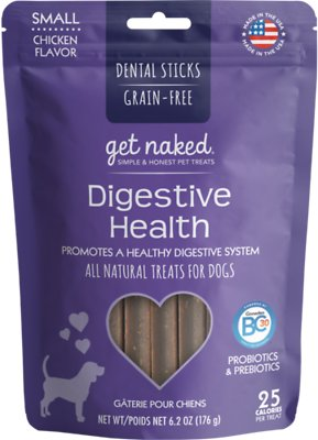 Get Naked Digestive Health Dental Chew Sticks Dog Treats