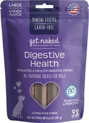 Get Naked Digestive Health Dental Chew Sticks Dog Treats