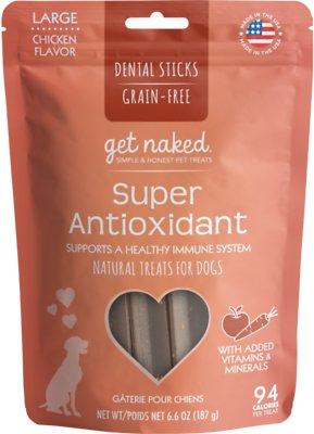 Get Naked Super Antioxidant Dental Chew Sticks Dog Treats