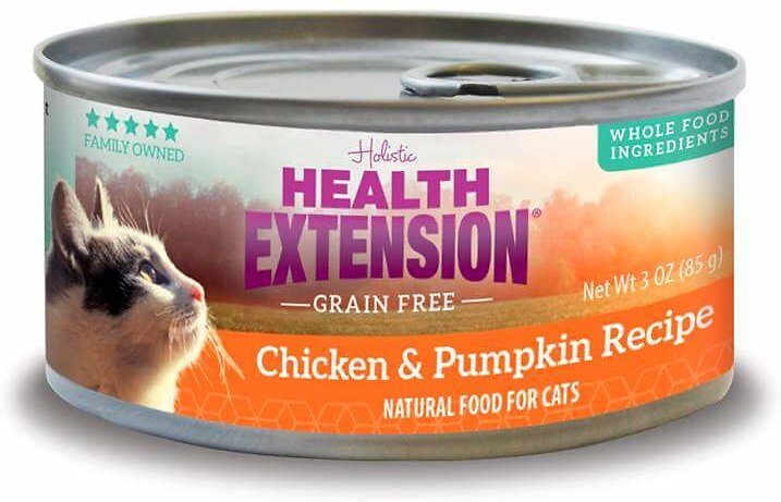 Health Extension Grain-Free Chicken & Pumpkin Recipe Canned Cat Food, 3-oz