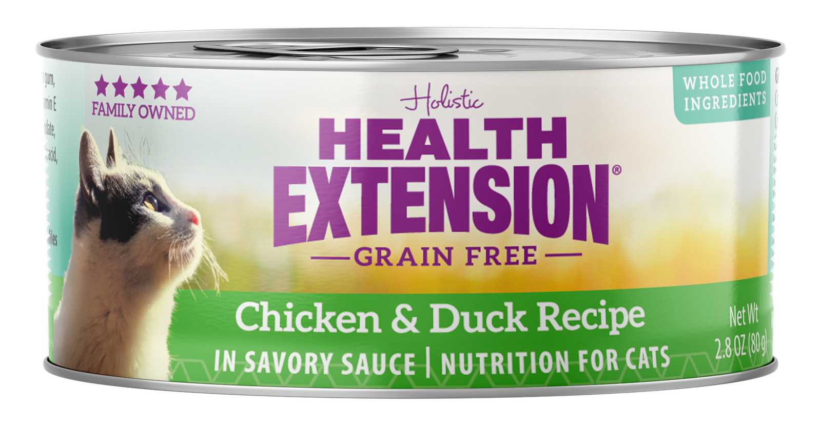 Health Extension Grain-Free Chicken & Duck Recipe Canned Cat Food, 3-oz