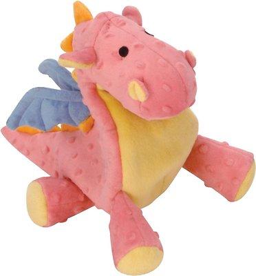 GoDog Dragons Chew Guard Dog Toy, Coral, Large