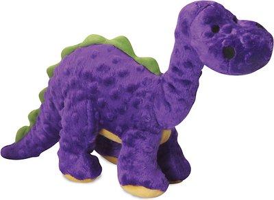 GoDog Dinos Chew Guard Bruto Dog Toy, Purple, Large