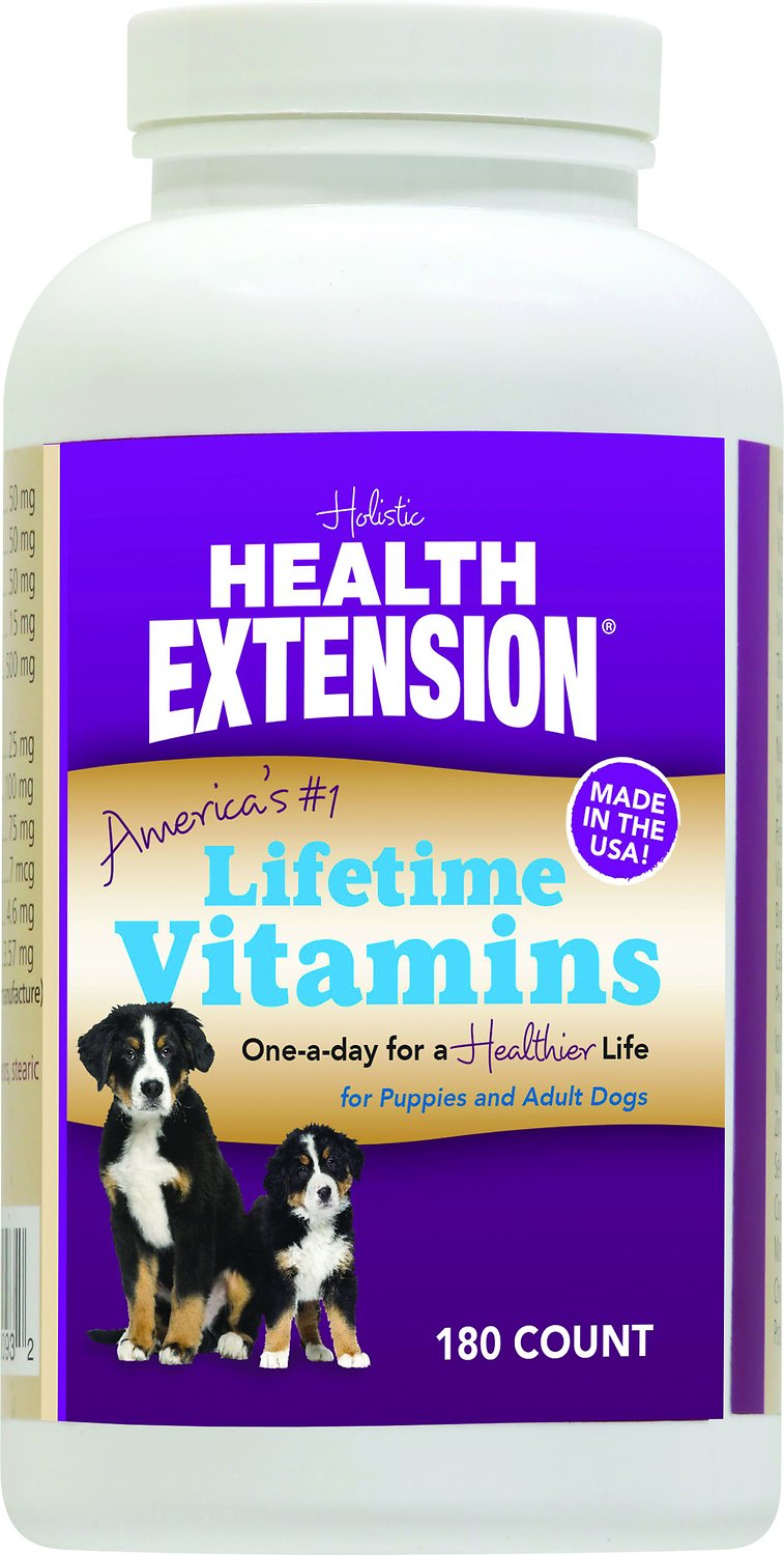 Health Extension Lifetime Vitamins Chewable Dog Tablets
