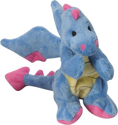 GoDog Dragons Chew Guard Dog Toy, Periwinkle, Small