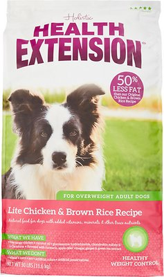 Health Extension Lite Chicken & Brown Rice Recipe Dry Dog Food