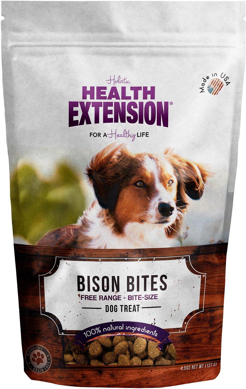 Health Extension Bison Bites Grain-Free Dog Treats, 4.5-oz bag