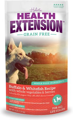 Health Extension Grain-Free Buffalo, Whitefish & Chickpea Formula Dry Dog Food