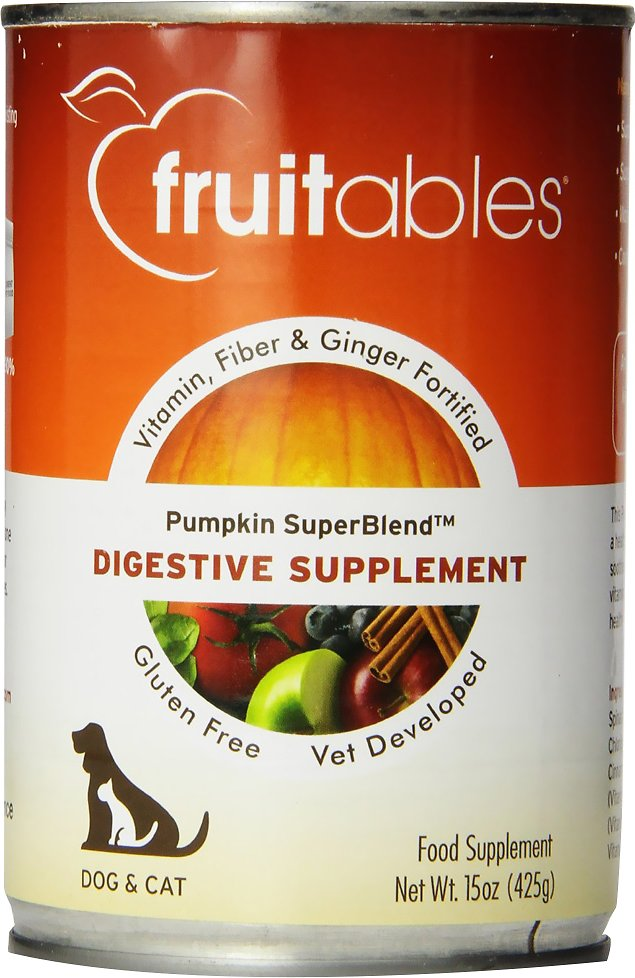 Fruitables Pumpkin SuperBlend Digestive Dog & Cat Supplement, 15-oz