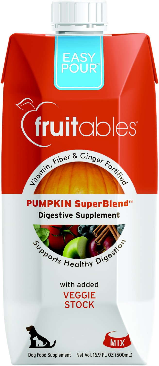 Fruitables Easy Pour Pumpkin Digestive Dog & Cat Supplement, 16.9- oz carton