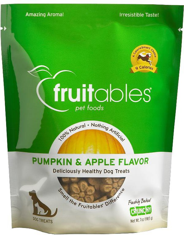 Fruitables Pumpkin & Apple Flavor Crunchy Dog Treats, 7-oz bag
