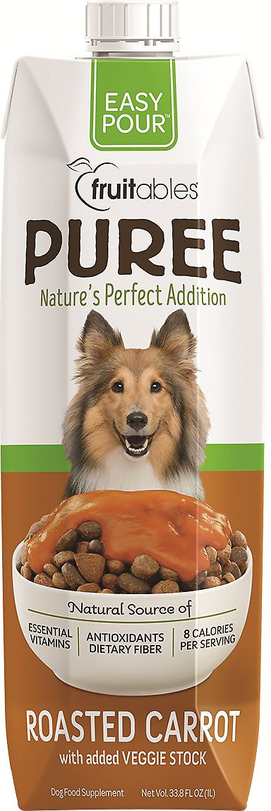 Fruitables Easy Pour Roasted Carrot Puree Dog Supplement, 33.8-oz carton
