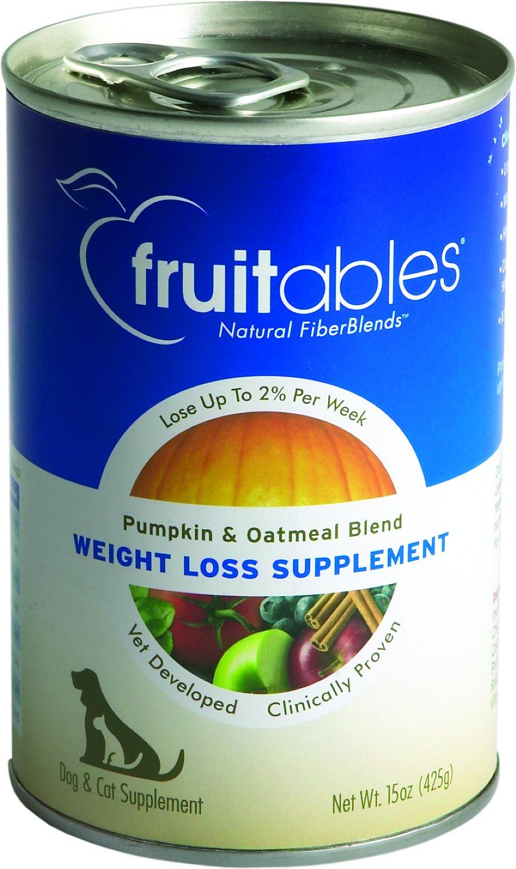 Fruitables Pumpkin SuperBlend Weight Loss Dog & Cat Supplement, 15-oz, case of 12