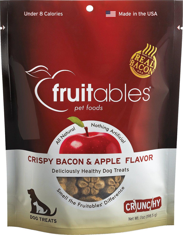 Fruitables Crispy Bacon & Apple Flavor Crunchy Dog Treats, 7-oz bag