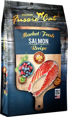 Fussie Cat Market Fresh Salmon Recipe Grain-Free Dry Cat Food