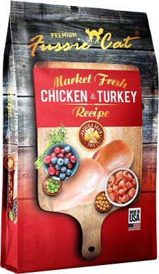Fussie Cat Market Fresh Chicken & Turkey Recipe Grain-Free Dry Cat Food Weights: 4.0 pounds, Size: 4-lb bag