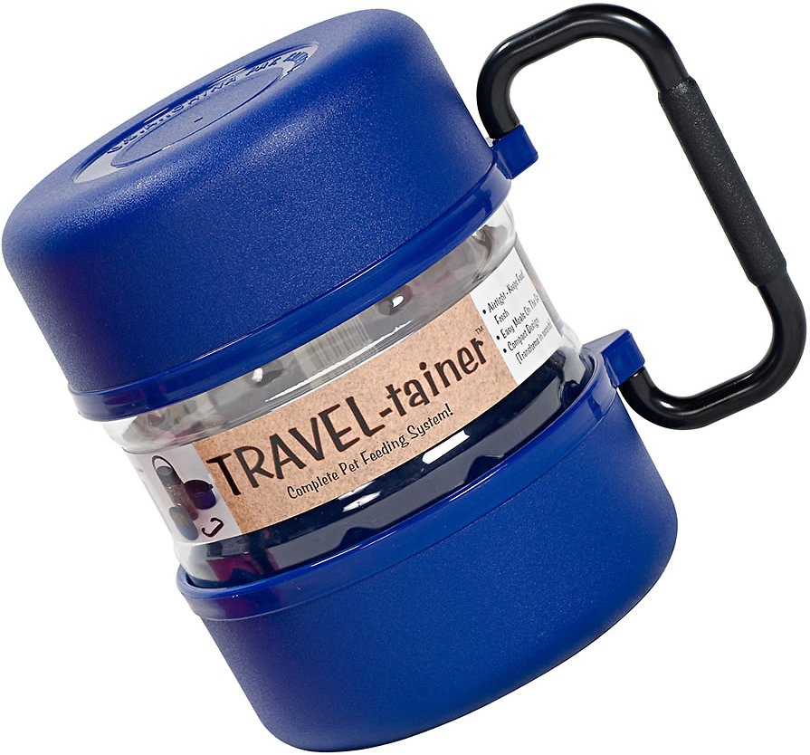 Gamma2 Travel-tainer Complete Pet Feeding System, Blue
