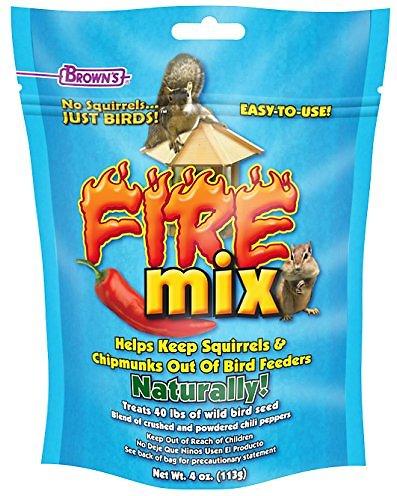 Brown's Garden Chic! No Squirrels... Just Birds! Fire Mix Wild Bird Food Treatment, 4-oz bag