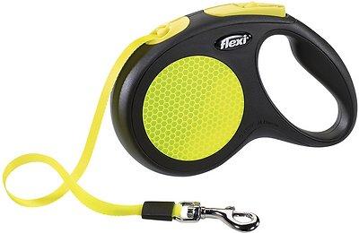 Flexi New Neon Retractable Tape Dog Leash, Small, 16-ft