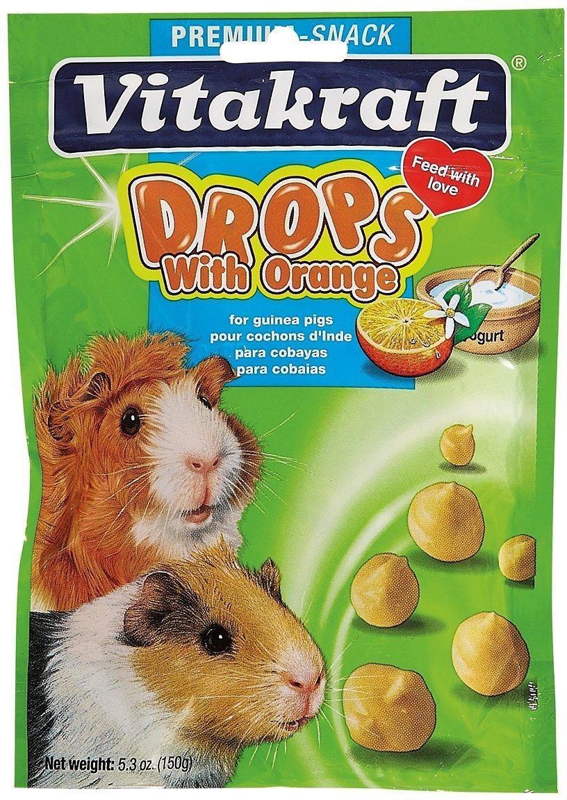 Vitakraft Drops with Orange Guinea Pig Treats, 5.3-oz bag