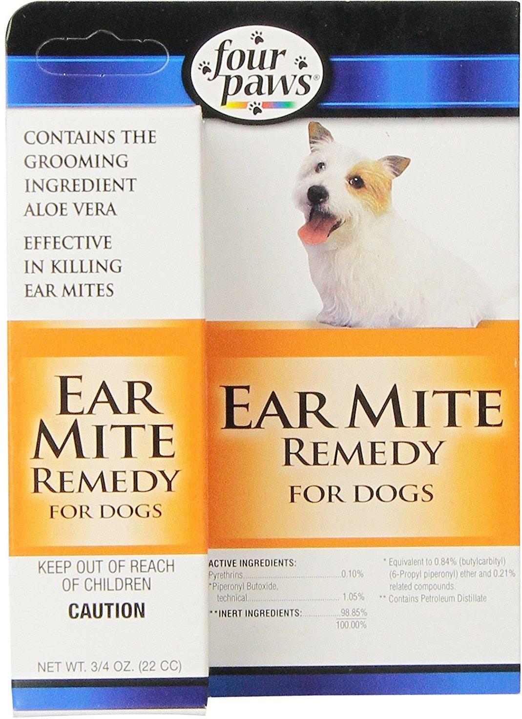 Four Paws Ear Mite Dog Remedy, 0.75-oz