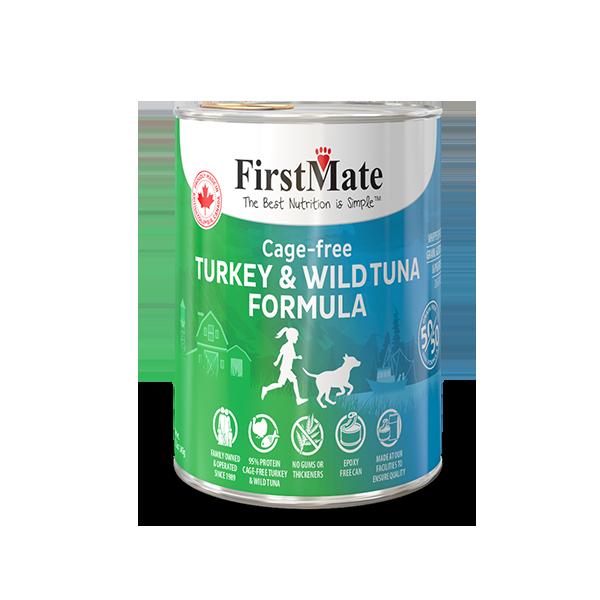 FirstMate 50/50 Turkey & Tuna Formula Grain-Free Canned Dog Food, 12.2-oz