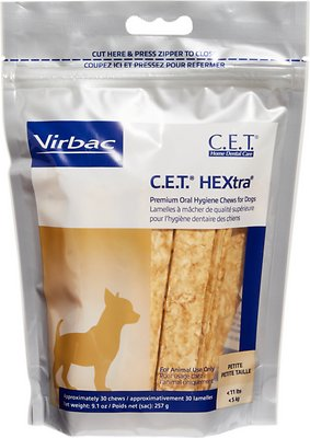 Virbac C.E.T. HEXtra Premium Dental Dog Chews, Petite