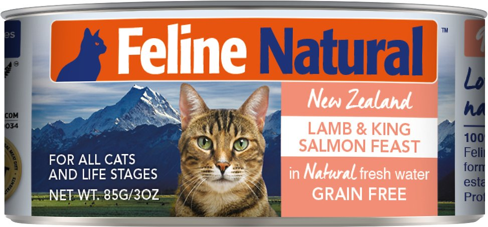 Feline Natural Lamb & Salmon Feast Grain-Free Canned Cat Food, 3-oz