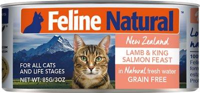 Feline Natural Lamb & Salmon Feast Grain-Free Canned Cat Food, 3-oz, case of 24