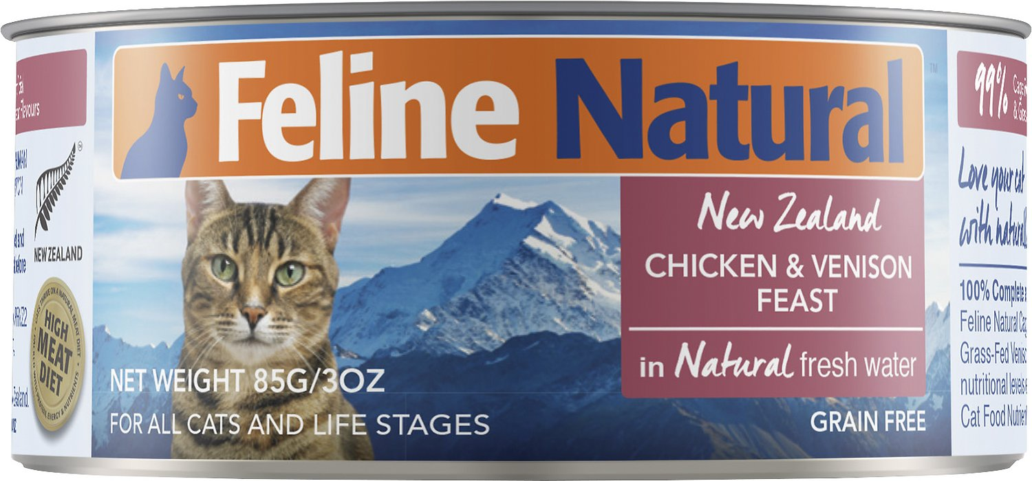 Feline Natural Chicken & Venison Feast Grain-Free Canned Cat Food, 3-oz