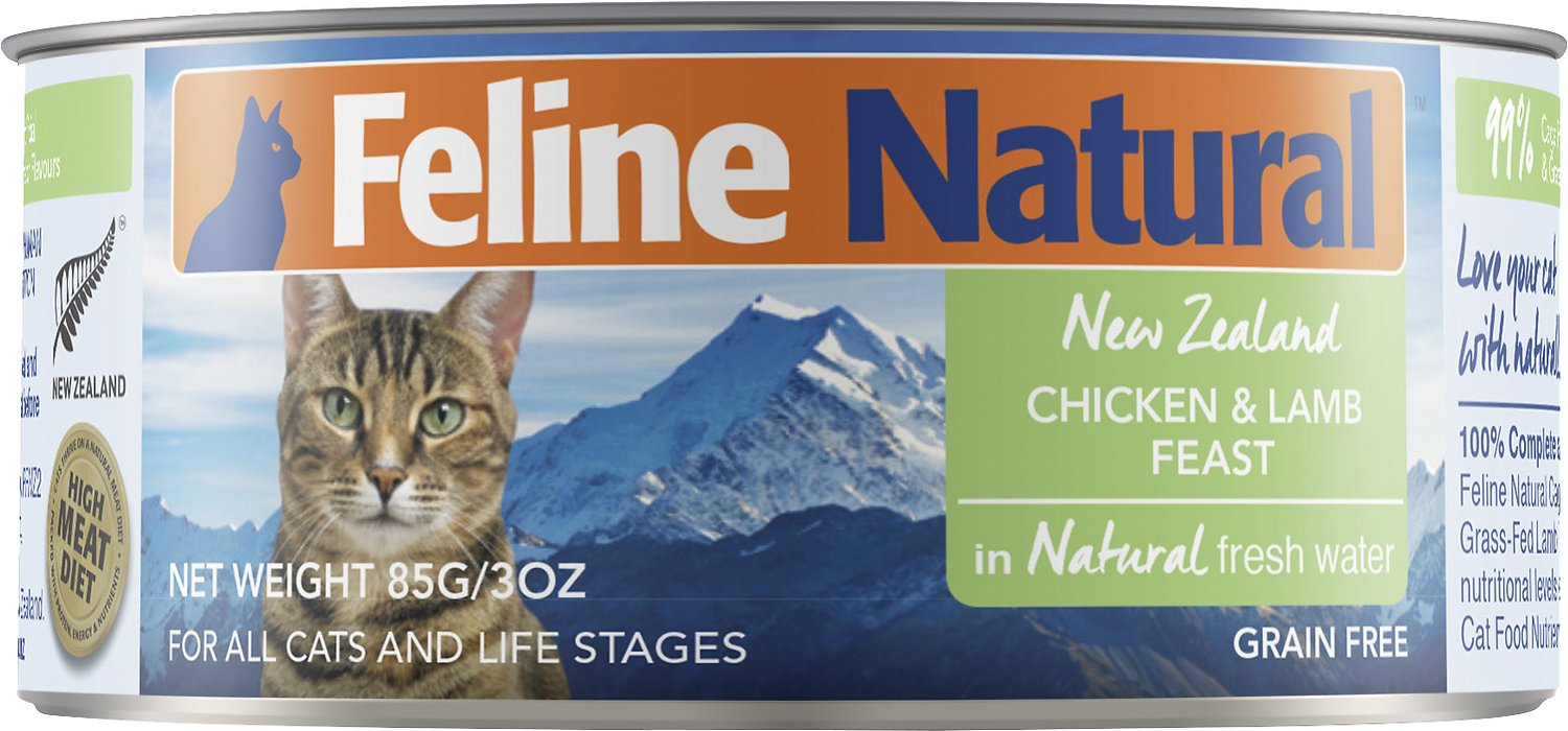 Feline Natural Chicken & Lamb Feast Grain-Free Canned Cat Food, 3-oz