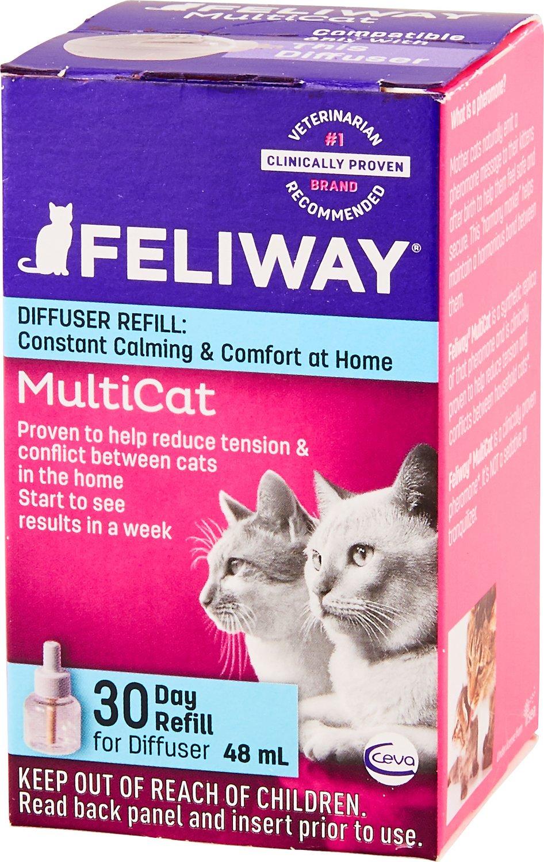 Feliway MultiCat 30 Day Diffuser Refill, 48-ml
