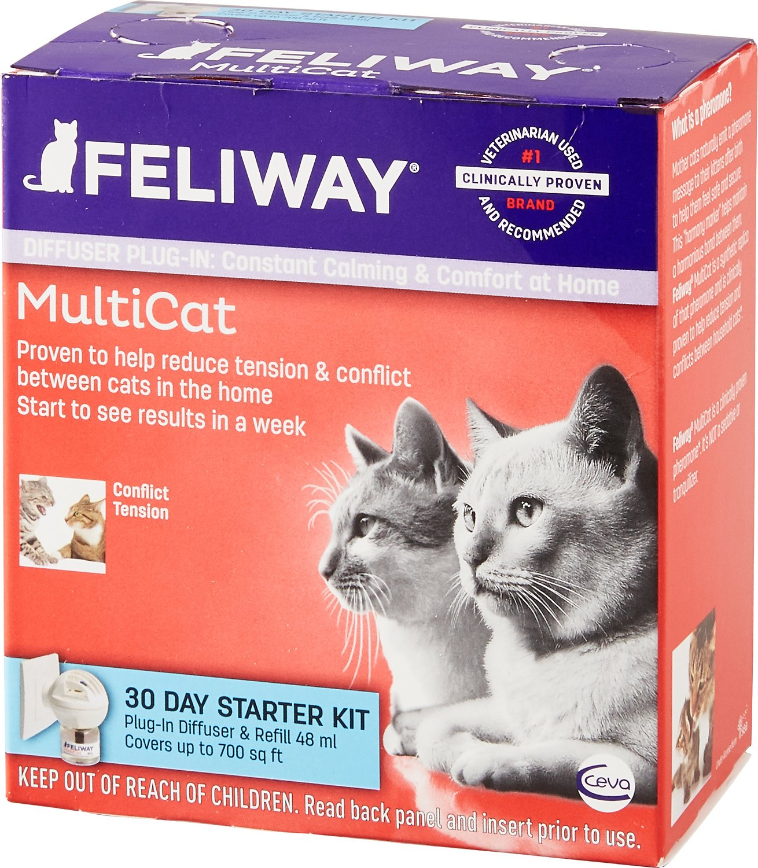 Feliway MultiCat 30 Day Starter Kit Plug-In Diffuser & Refill, 48-ml