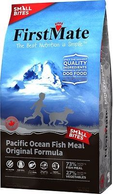 FirstMate Small Bites Pacific Ocean Fish Meal Original Formula Limited Ingredient Diet Grain-Free Dry Dog Food, 5-lb