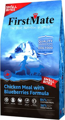 FirstMate Small Bites Chicken Meal with Blueberries Formula Limited Ingredient Diet Grain-Free Dry Dog Food