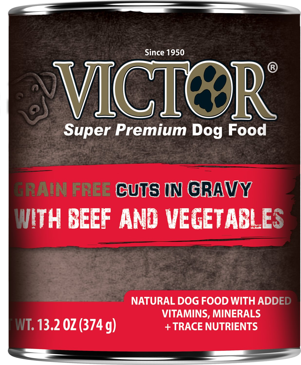 Victor Grain-Free Beef & Vegetables Entree in Gravy Canned Dog Food, 13.2-oz