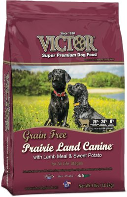 Victor Grain-Free Prairie Land Canine with Lamb Meal & Sweet Potato Dry Dog Food, 5-lb bag