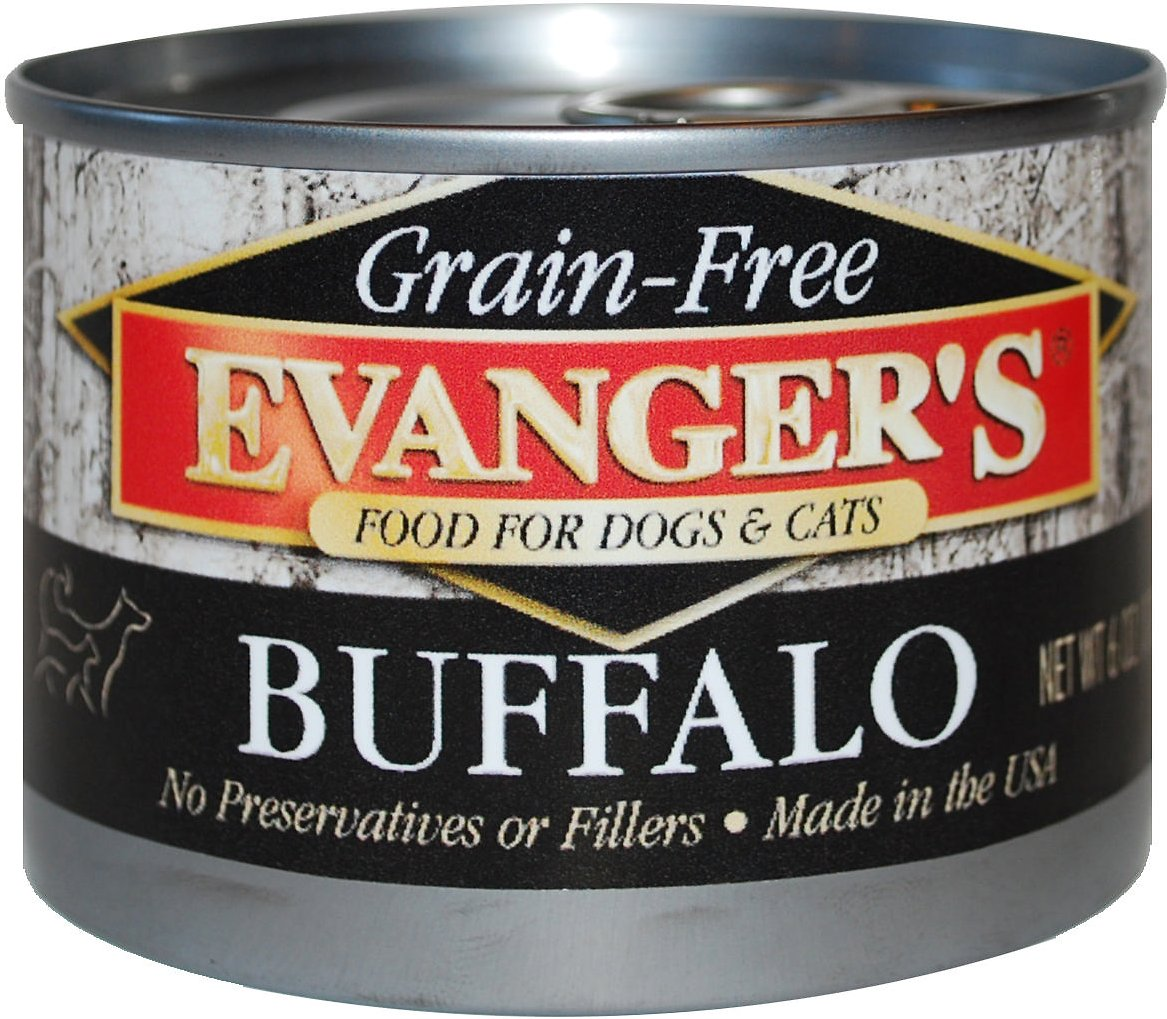 Evanger's Grain-Free Buffalo Canned Dog & Cat Food, 6-oz
