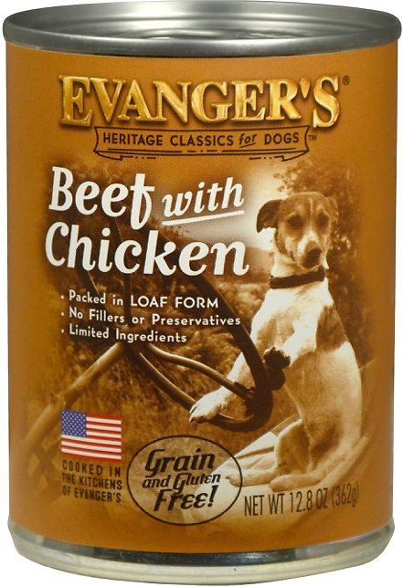 Evanger's Classic Recipes Beef with Chicken Grain-Free Canned Dog Food, 12.8-oz